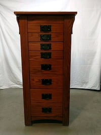 brown wooden 5-drawer chest Annapolis, 21403