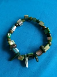 Abalone shell and natural stone stretch bracelet Ocklawaha, 32179