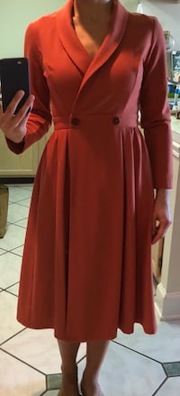 women's red long-sleeved dress Arlington, 22201