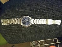 round silver chronograph watch with link bracelet Mount Airy, 27030