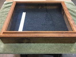 Solid wood and glass display case