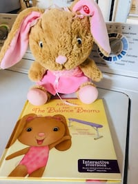 Interactive storybook Abigail and the balance beam. Bunny story reading Antelope, 95843