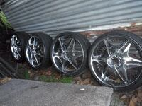 """24"""" inch universal rims, new tires!!! Plus motor stand and hoist!"""