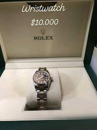 round silver Rolex analog watch with link bracelet Edmonton, T5P 0L1