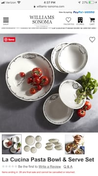 white and red floral ceramic tea set Gilbert, 85297