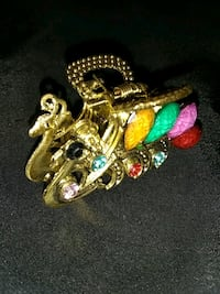 gold-colored assorted-color stone hair clamp Oakland, 94621