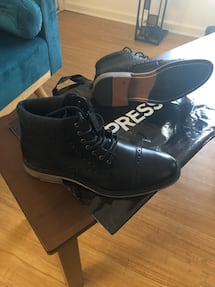 EXPRESS oxford genuine leather dress boots. New. Original $148