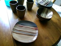A set of kitchen Ware plates 4 of everything made  260 mi