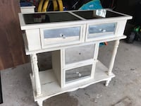 Antique white distressed mirrored dresser, chest, and nightstand Phoenixville, 19460