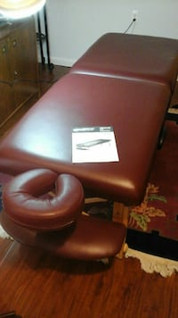 red leather padded rolling chair 30 km