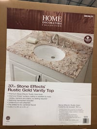"37"" Rustic Gold Vanity Top W/Sink"
