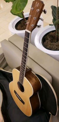 Beautiful James Neligan Acoustic Mini Guitar. Solid Wood Travel Size