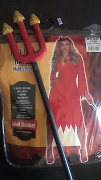 Devil's costume Adult Standard size will include devil's stick which is not part of costume Toronto, M3N 1A7