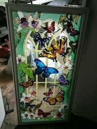 Stained glass panel 3foot by 18inch Orange