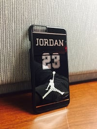 Black jordan 23 print iphone case