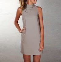 Gray Fitted High Neck Mini Dress Vancouver, 98664