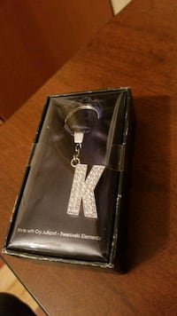 Letter K crystal key chain
