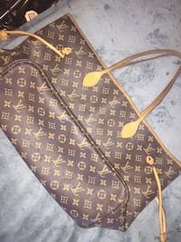 Authentic Louis Vuitton 'Neverfull' & cosmetic pouch , V3Y 2G1