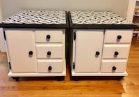 White and black Refinished End Tables Moodus, 06469