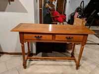 brown wooden single drawer side table Staten Island, 10304