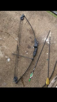 two black and brown compound bows 7 km