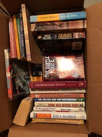 Box assorted fiction and non fiction (38 books) Langley, V3A 4L8