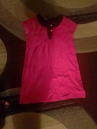 Girls, pink and black sleeveless dress 546 km