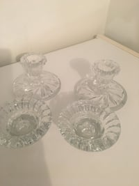 2 pairs of crystal candle holder Toronto, M2P 1P9