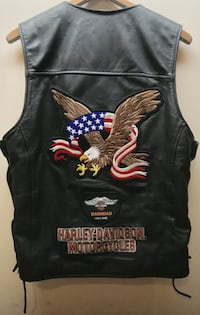 Harley Davidson Men's Leather Vest Palos Hills