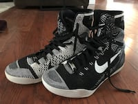 pair of black-and-white Nike basketball shoes Newfield, 08344