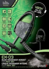 EX-03 Inline Messenger Headset for Xbox 360 Calgary, T2B 0K2