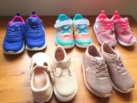 Five pairs baby girl shoes size 6