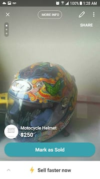 blue and multicolored floral full-face motorcycle helmet screenshot Toronto, M1P 5J1
