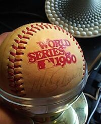 1980 rawlings world series official ball Dover, 19904