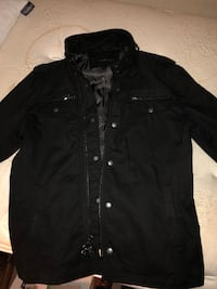 Black John varvatos button-up field jacket