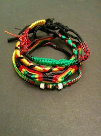 Jamaican embroided bangles