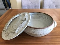 Pottery Casserole Dish with Lid Victoria
