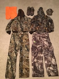 Camouflage Hunting clothes with Boots Saint Robert, 65584