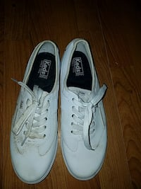 white-and-black Keds low-top sneakers