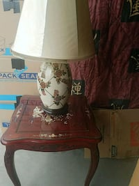 Rosewood End Table and lamp DEVORE HGHTS, 92407