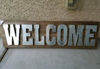 3ft metal welcome sign new  Las Vegas, 89149