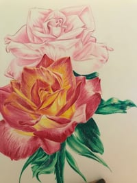 Two roses print.
