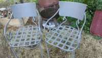 two gray metal framed chairs Fresno, 93704