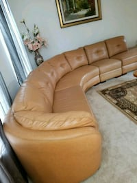 brown leather tufted sectional sofa Clinton, 20735