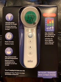 """BRAND NEW """"BRAUN"""" NO TOUCH+ FOREHEAD THERMOMETER Guelph, N1G 5A9"""