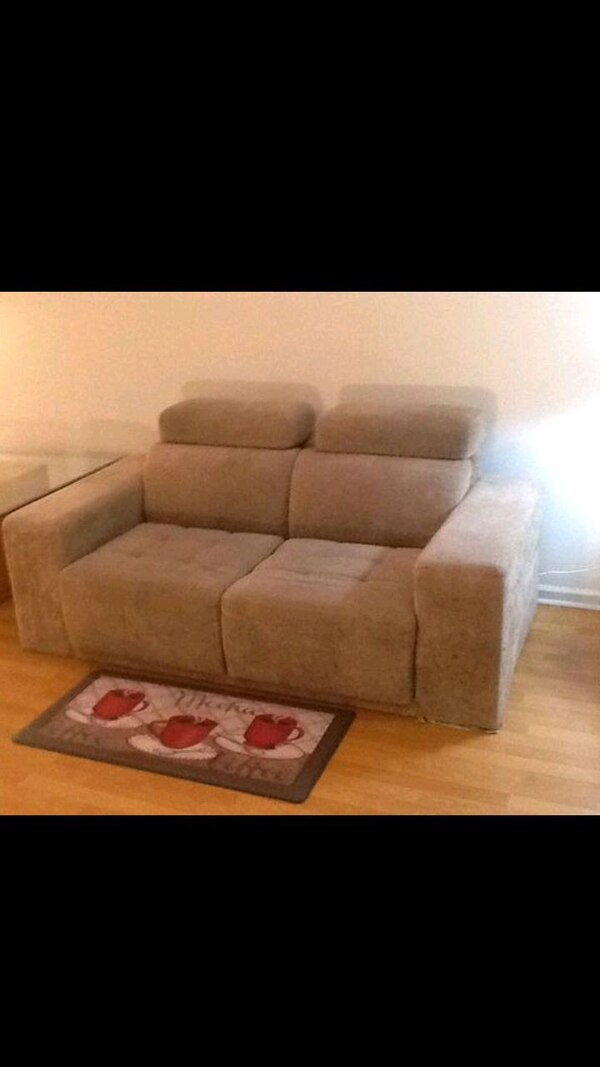 Used Super Soft Terry Cloth Sofa With Side Compartment For Sale In