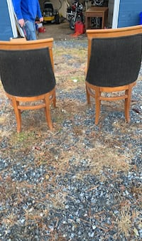 2 black accent chairs