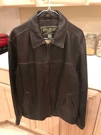 black leather zip-up jacket Midway, 31320
