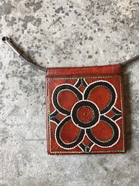 Vintage Leather African Amulet Pouch for Protection Los Angeles