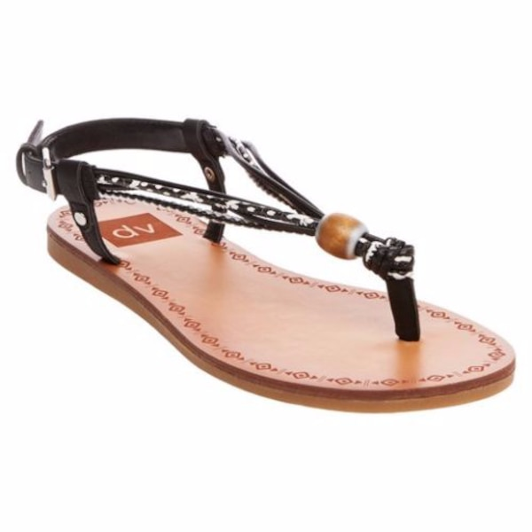 ee876d866 DV Dolce Vita Allison Shoes   Black Wooden Bead Toe Thong Sandals NWT 6.5